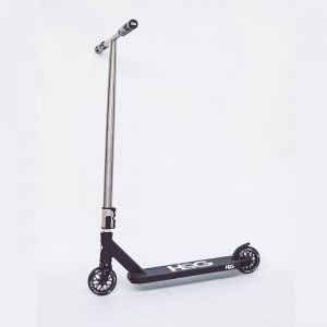 black scooter side view
