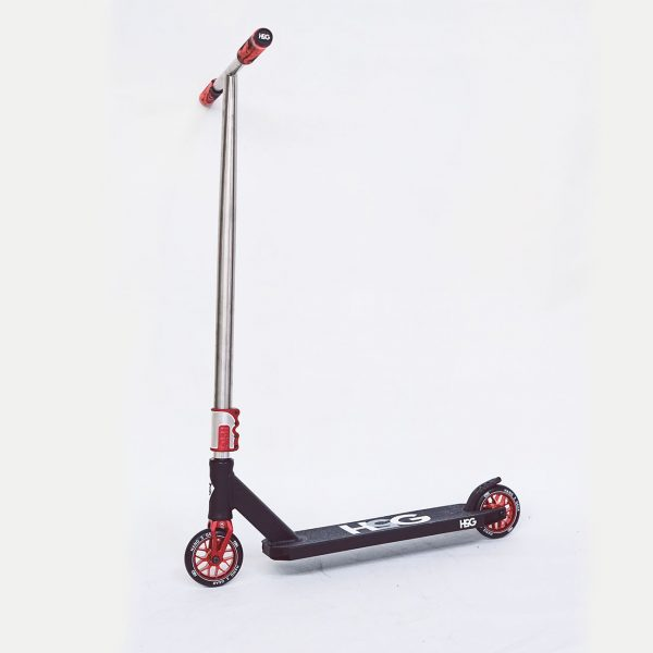 red scooter side view