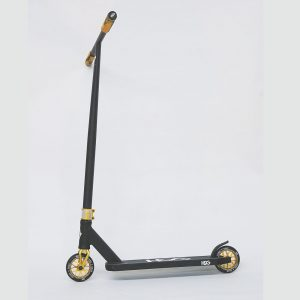 gold scooter, gold wheels, gold grip