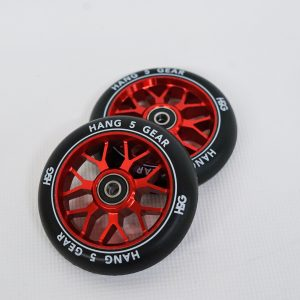 scooter black red wheels