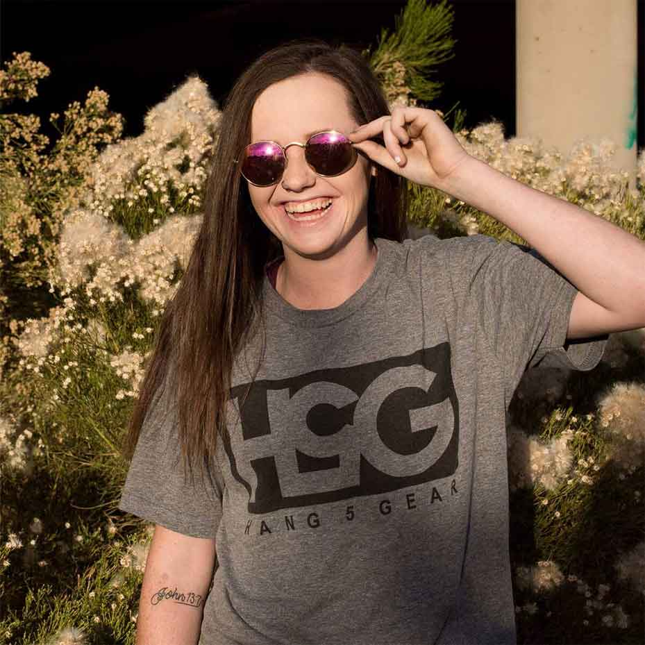 girl-wearing-h5g-shirt-and-smiling Gallery